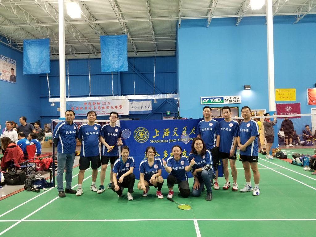 校友会组队参加首届多伦多高校校友会羽毛球友谊赛